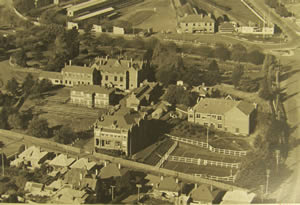 aerial view of university of tasmania 1939
