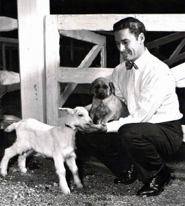 Errol with Goat and Dog