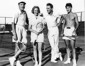 Charlie Farrell & Tennis Great Alice Marble (and I don't know who on Errol's left!)