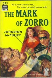 'Mark of Zorro' 1958 paperback editon