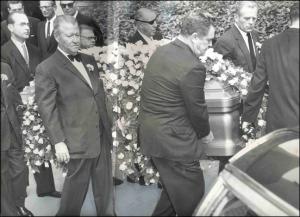 Mickey at Errol's Funeral