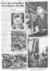 article written by Sean Flynn from 'Daily News', April 27,1966
