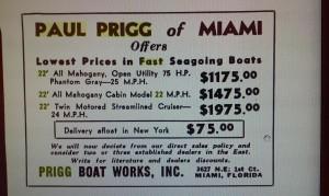 Paul Prigg Advertisement