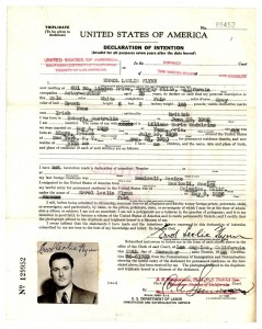 immigration form FLYNN
