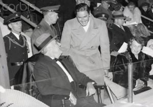 Franklin Roosevelt With Errol Flynn