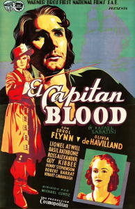 Captain Blood Spanish Poster