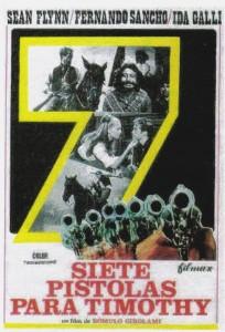 'Seven Guns for Timothy'-poster for Spanish release--(1971)