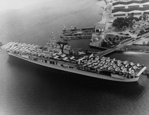 USS Yorktown with air group