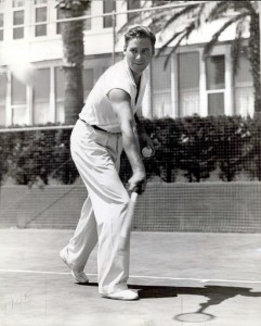 Errol playing tennis hotel del