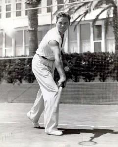Errol playing tennis hotel del