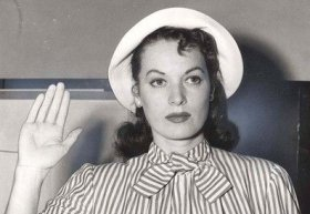 Maureen O'hara testifying against Confiedentail