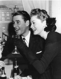 Errol and nora toasting