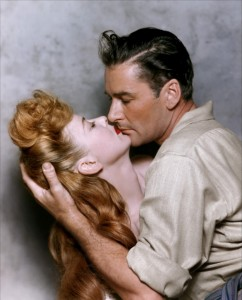 Remembering IDA LUPINO (4 February 1918 – 3 August 1995) on her birthday.  She starred with Errol Flynn in the Warner Bros film,  ''ESCAPE ME NEVER'' Released in 1947.  They became good friends during the making of the film. Here is a rare Color photo.
