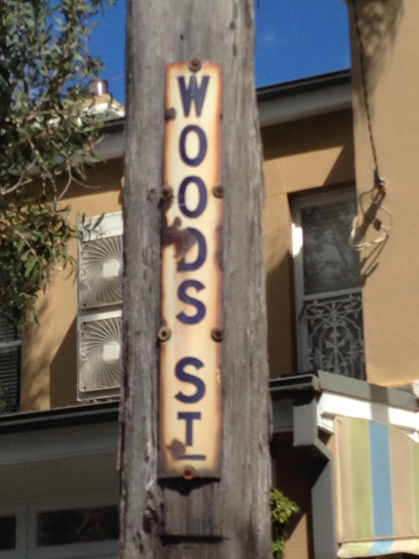 Manly 3 Wood Street Sign
