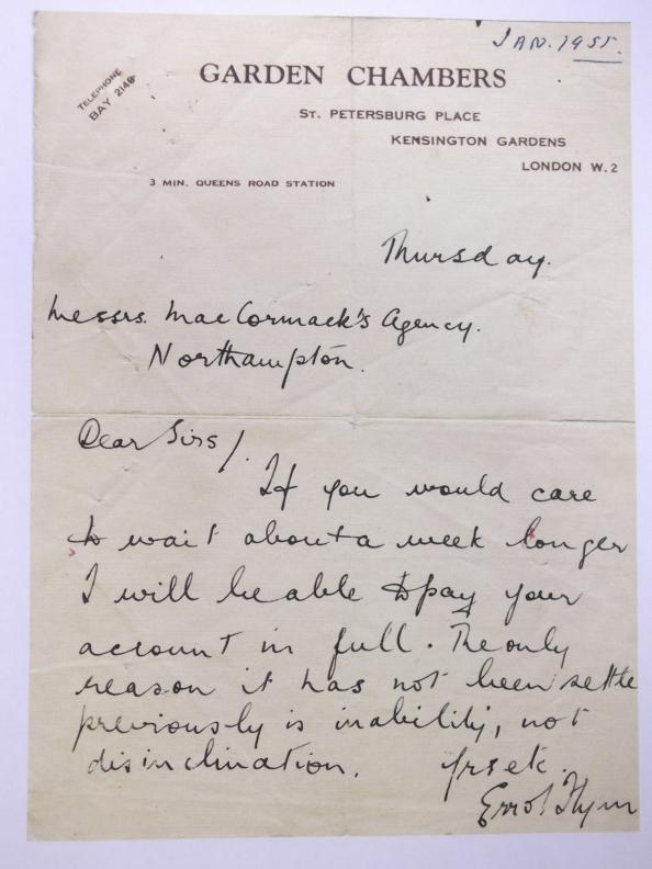 Debt Letter 1955