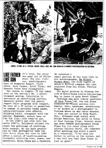 clipping of Sean in Vietnam and Errol in 'Adv. of Robin Hood'
